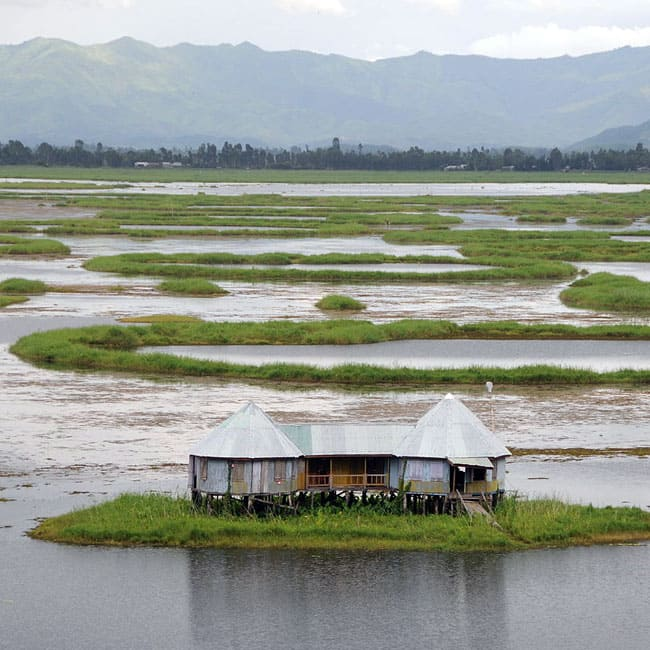 A beautiful picture of Loktak Lake  in Manipur