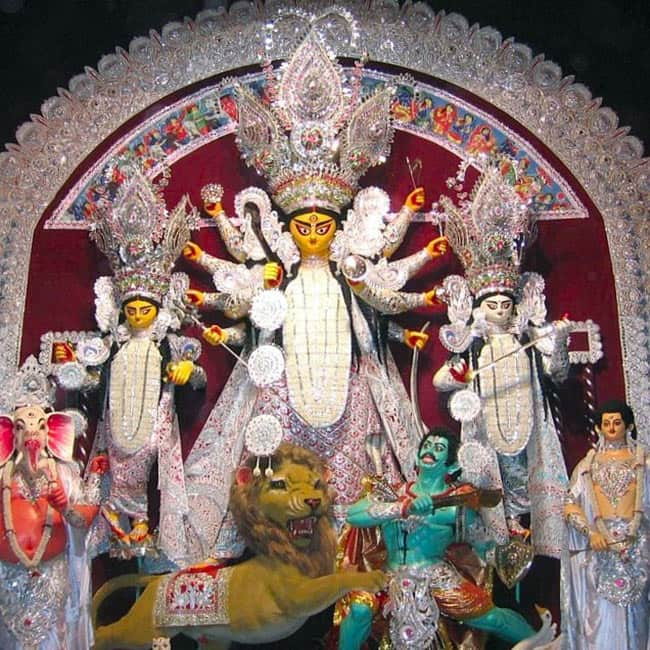A picture of Bagbazar   the famous Durga Puja Pandal in Kolkata