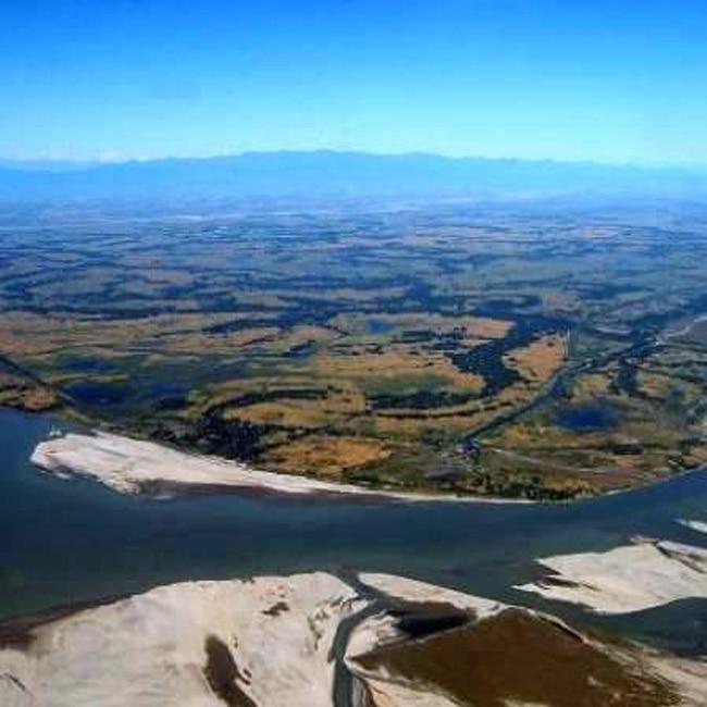 A picture of Majuli Island in Assam