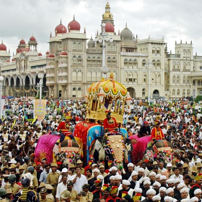A picture of Mysore Dasara