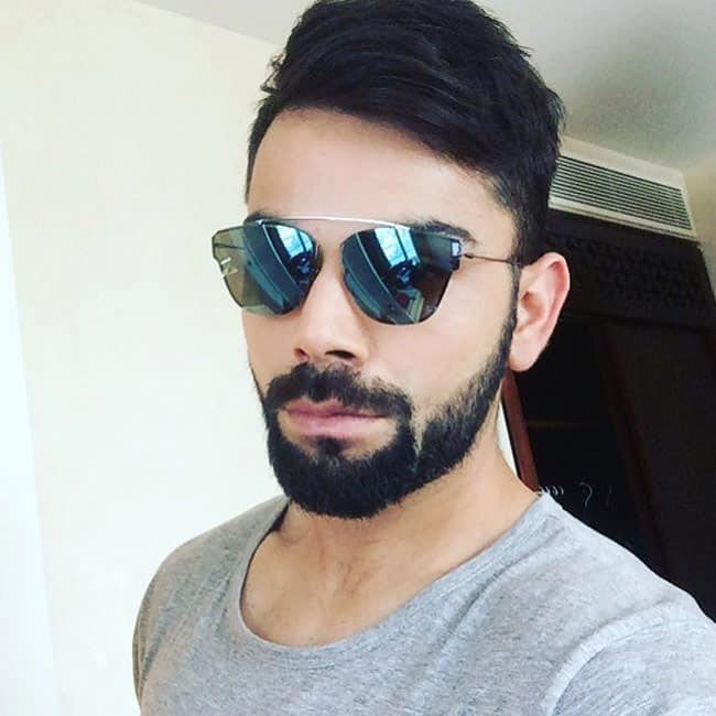 A Picture Of Virat Kohli In Beard No Shave November Or