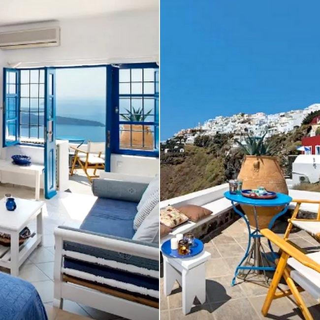 a romantic airbnb apartment in santorini greece check