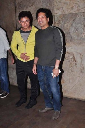 PK: Sachin Tendulkar at the special screening of Aamir Khan's next (View Pics)