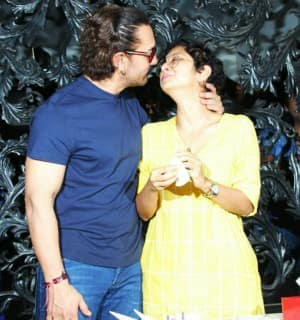 IN PICS: Aamir Khan's 53rd birthday celebration was an intimate affair with wife, media and fans