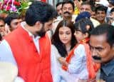 PICS: Abhishek Aishwarya seeks blessings at Siddhivinayak temple on their 10th anniversary with daughter Aaradhya!