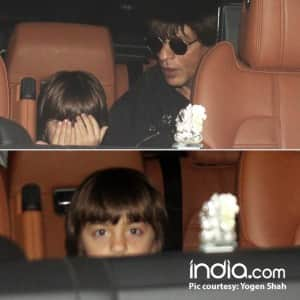 PHOTOS: Abram Khan plays hide and seek with shutterbugs while accompanying daddy Shah Rukh Khan at airport