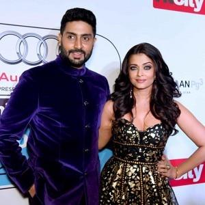 Aishwarya Rai and Abhishek Bachchan's lovey-dovey moments captured during HT Most Stylish Awards!