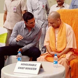 PHOTOS: Jab Akshay Kumar, Bhumi Pednekar met Uttar Pradesh CM Yogi Adityanath!
