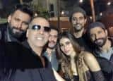 Akshay Kumar, Mouni Roy, Farhan Akhtar pose to slay at Gold's wrap up party