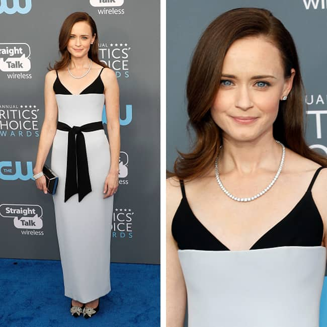 Alexis Bledel at red carpet of Critics' Choice Awards 2018