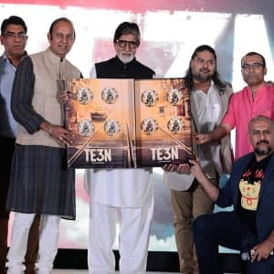Mega star Amitabh Bachchan unveils the music of 'Te3n' in Mumbai!