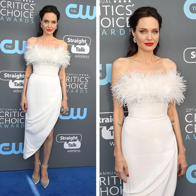 Angelina Jolie at red carpet of Critics' Choice Awards 2018