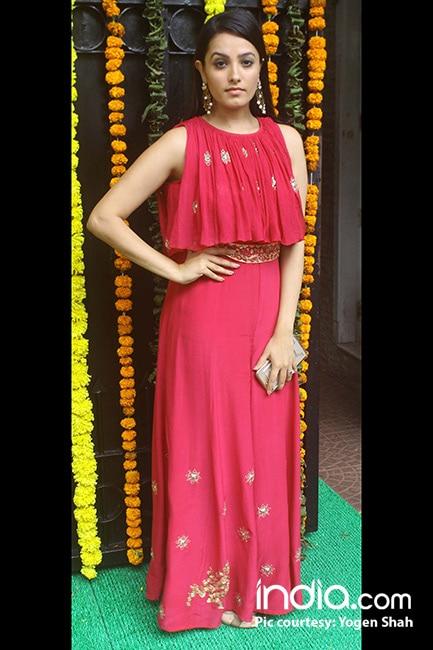 Anita Hassanandani during Ganesh Chaturthi celebrations