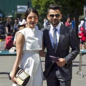 SPOTTED! Anushka Sharma and Virat Kohli with master blaster Sachin Tendulkar at  Wimbledon 2015