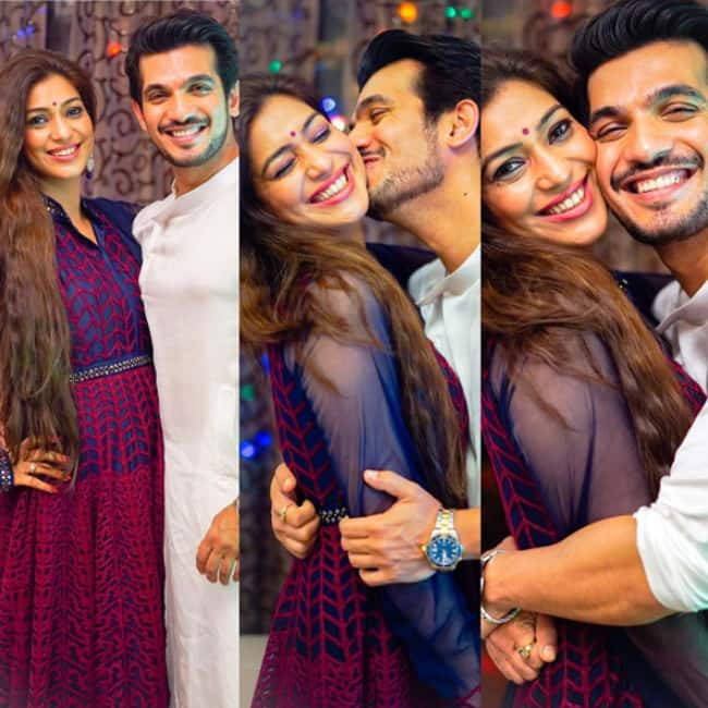 Arjun Bijlani with wife Neha Swami during Diwali celebrations