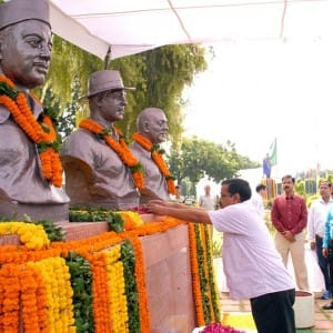 Chief Minister Arvind Kejriwal pays tribute to Shaheed Bhagat Singh on his birth anniversary