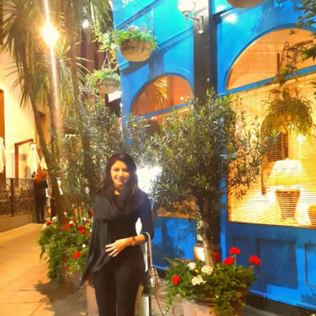 Bhagyashree snapped in London during her Europe trip