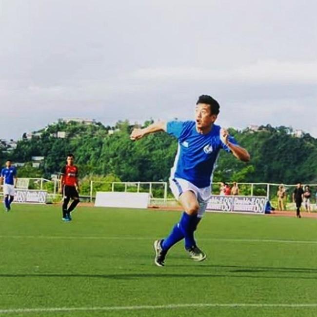 Bhaichung Bhutia on the football field