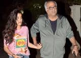 Jhanvi Kapoor visits step brother Arjun Kapoor's house with father Boney Kapoor