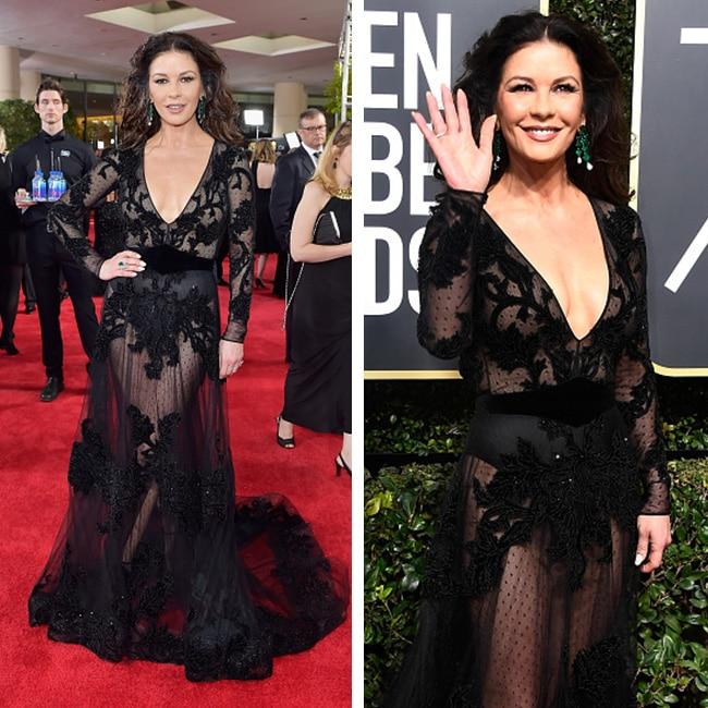 Catherine Zeta Jones at red carpet of Golden Globe Awards 2018