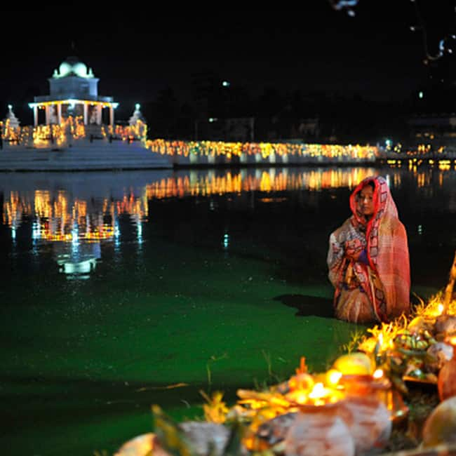 Chhath Puja is celebrated on the sixth day in the month of Kartik of the Hindu calendar