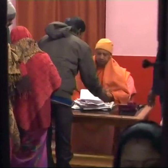 CM Yogi Adityanath during Janta Darbar