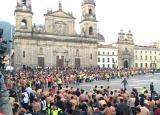 Colombians went nude for photographer Spencer Tunick in Bogota to support peace!