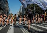 IN PICS: Miss BumBum 2017 contestants march the streets of Sau Paulo in Brazil!