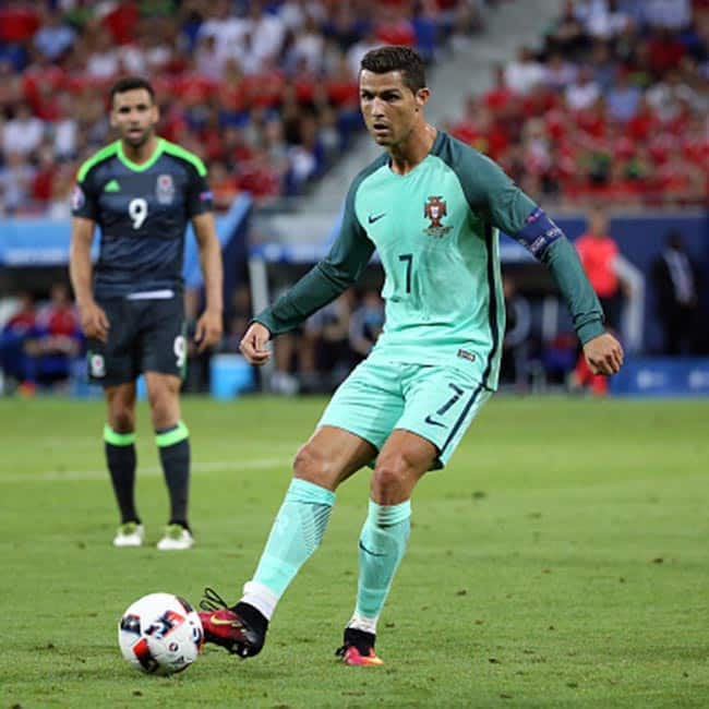 Cristiano Ronaldo clicked during UEFA Euro 2016 semi finals