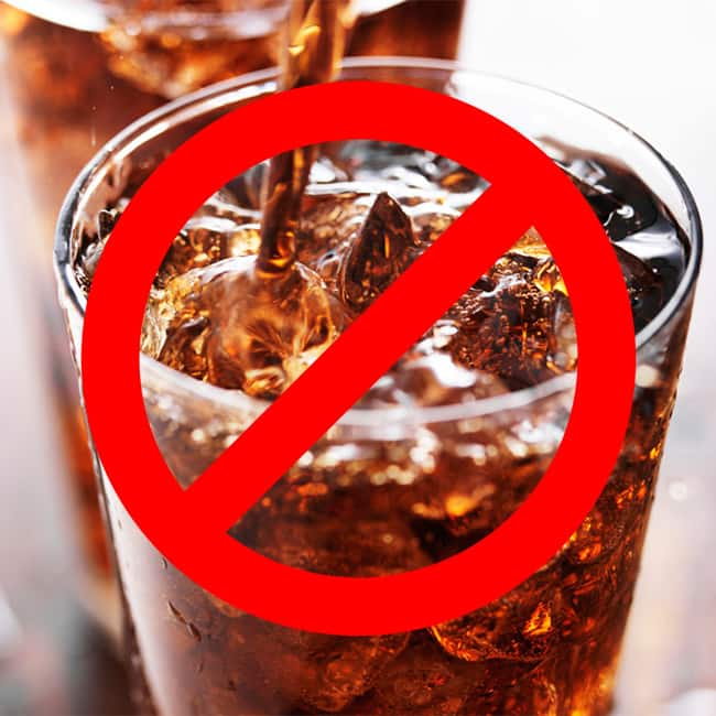 Cut down soda for weight loss