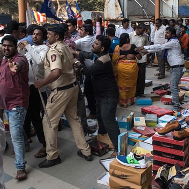 Dalit protesters in Mumbai