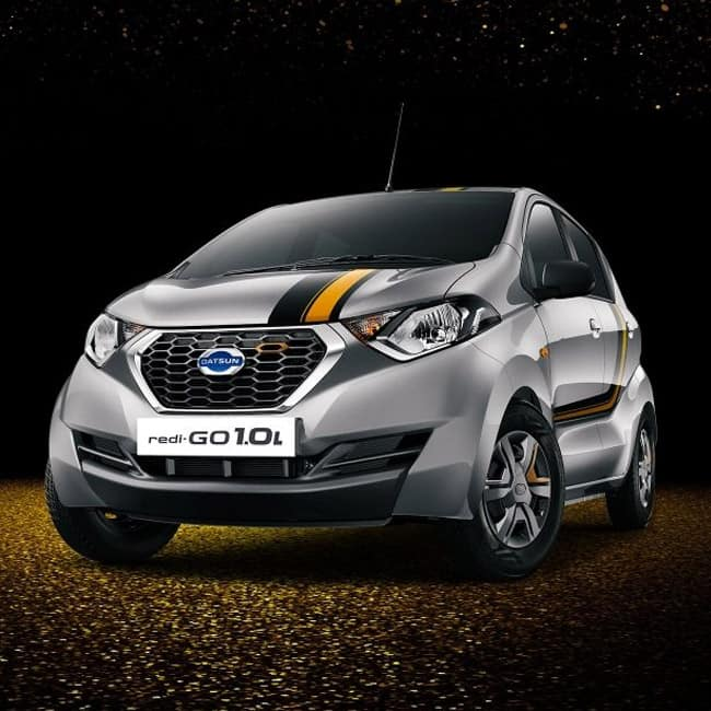 Datsun launches a limited edition redi GO GOLD 1 0 litre in India