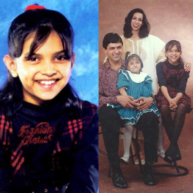 Deepika Padukone in her childhood picture