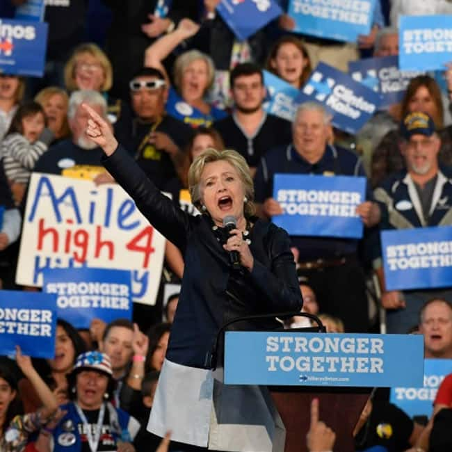 Democratic party   s candidate Hillary Clinton wins from Colorado