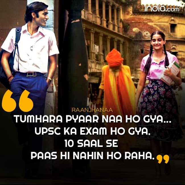 Dhanush   s dialogue for Sonam Kapoor in Raanjhana