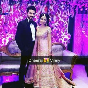 Dreamy pictures of Sasural Simar Ka Dheeraj Dhoopar and Vinny Arora's sangeet ceremony are here!