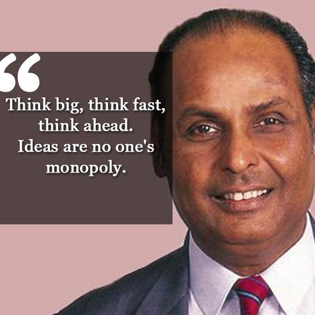 Dhirubhai Ambani   s constructive ideology