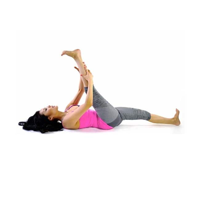 Do reclining hamstring stretch for 1 minute everyday
