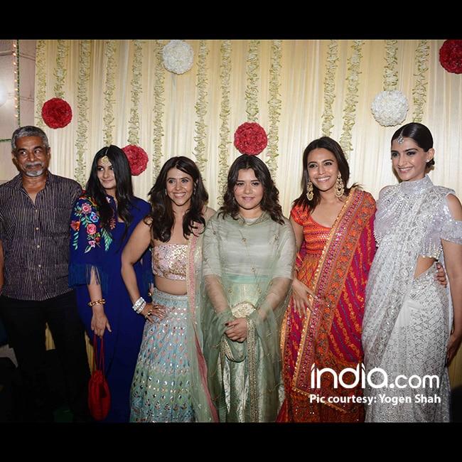 Ekta Kapoor with Rhea Kapoor  Swara Bhaskar  Sonam Kapoor and Shikha Talsani