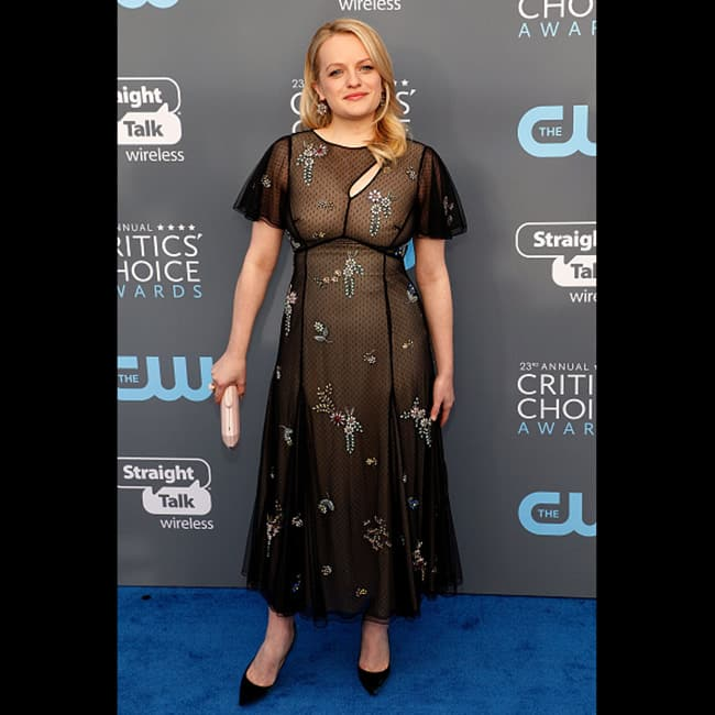 Elisabeth Moss at red carpet of 23rd Critics' Choice Awards