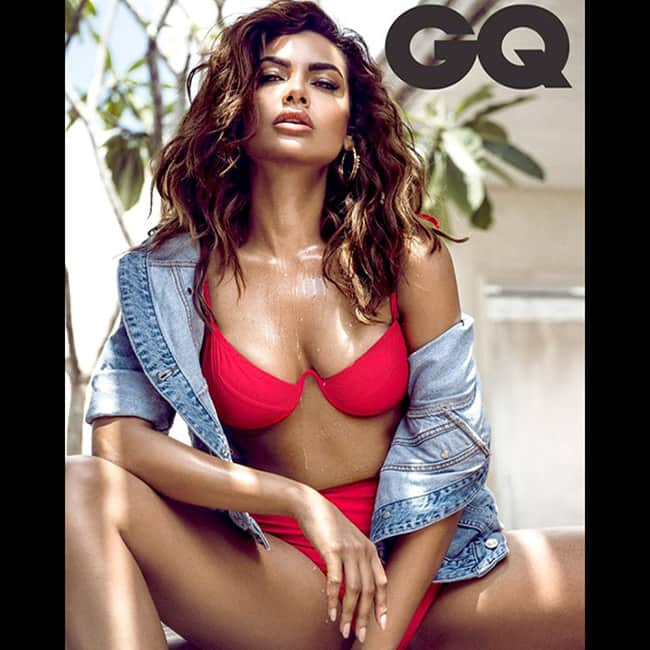 Esha Gupta snapped in red bikini during GQ magazine shoot