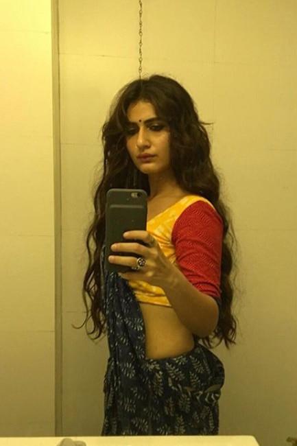Fatima Sana Shaikh   s sari selfie