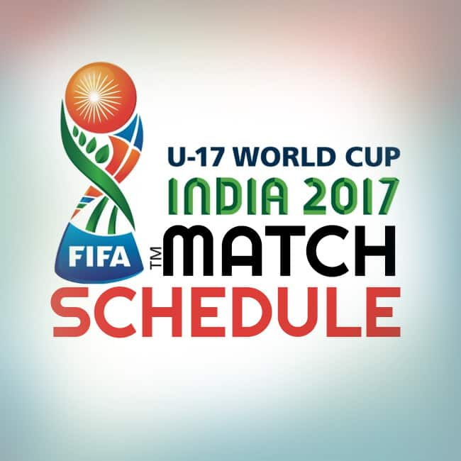 FIFA match schedule for under 17 World Cup 2017