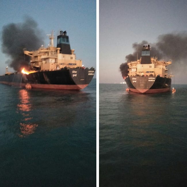 Fire breaks out in MT Genessa oil tanker near Deendayal Port Kandla