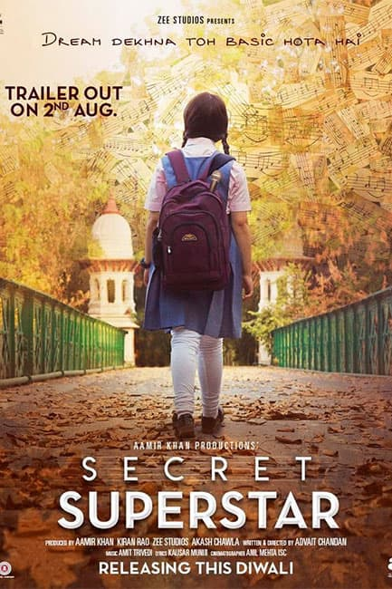 First poster of Secret Superstar movie