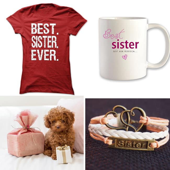 Gift her accessories or clothes with    World   s Best Sister    quote
