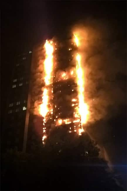 Grenfell Tower of London gutted in fire