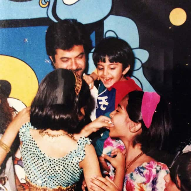 Harshvardhan Kapoor   s childhood picture with father Anil Kapoor and sisters