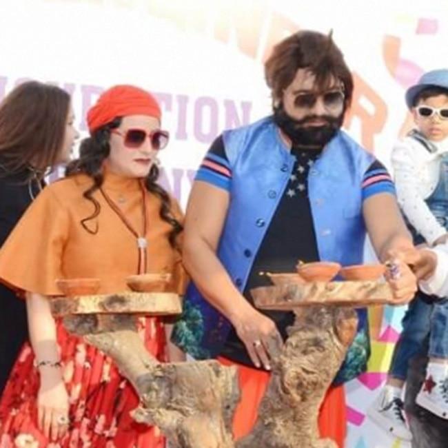 Honeypreet Insan during an inauguration event with Gurmeet Ram Rahim