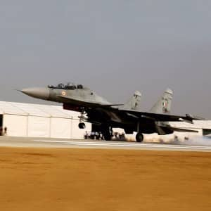 PHOTOS: India Air Force conducts touchdown exercise on Lucknow-Agra Expressway